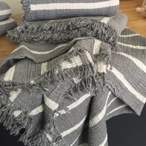 Crinkle Stripe Throw