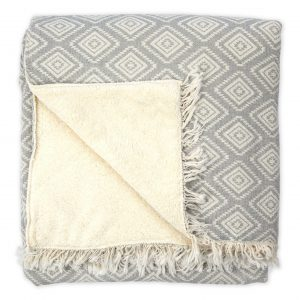 Fleece-lined Throw Pyramid
