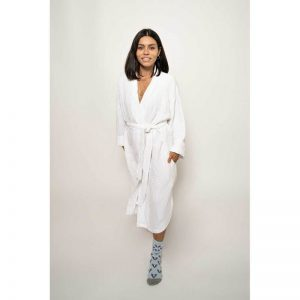 Crinkle Robe – White